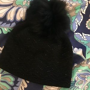 Accessories - Pom hat with rhinestones